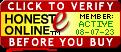 HONESTe Seal - Click to verify before you ship!